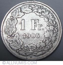 Image #1 of 1 Franc 1905