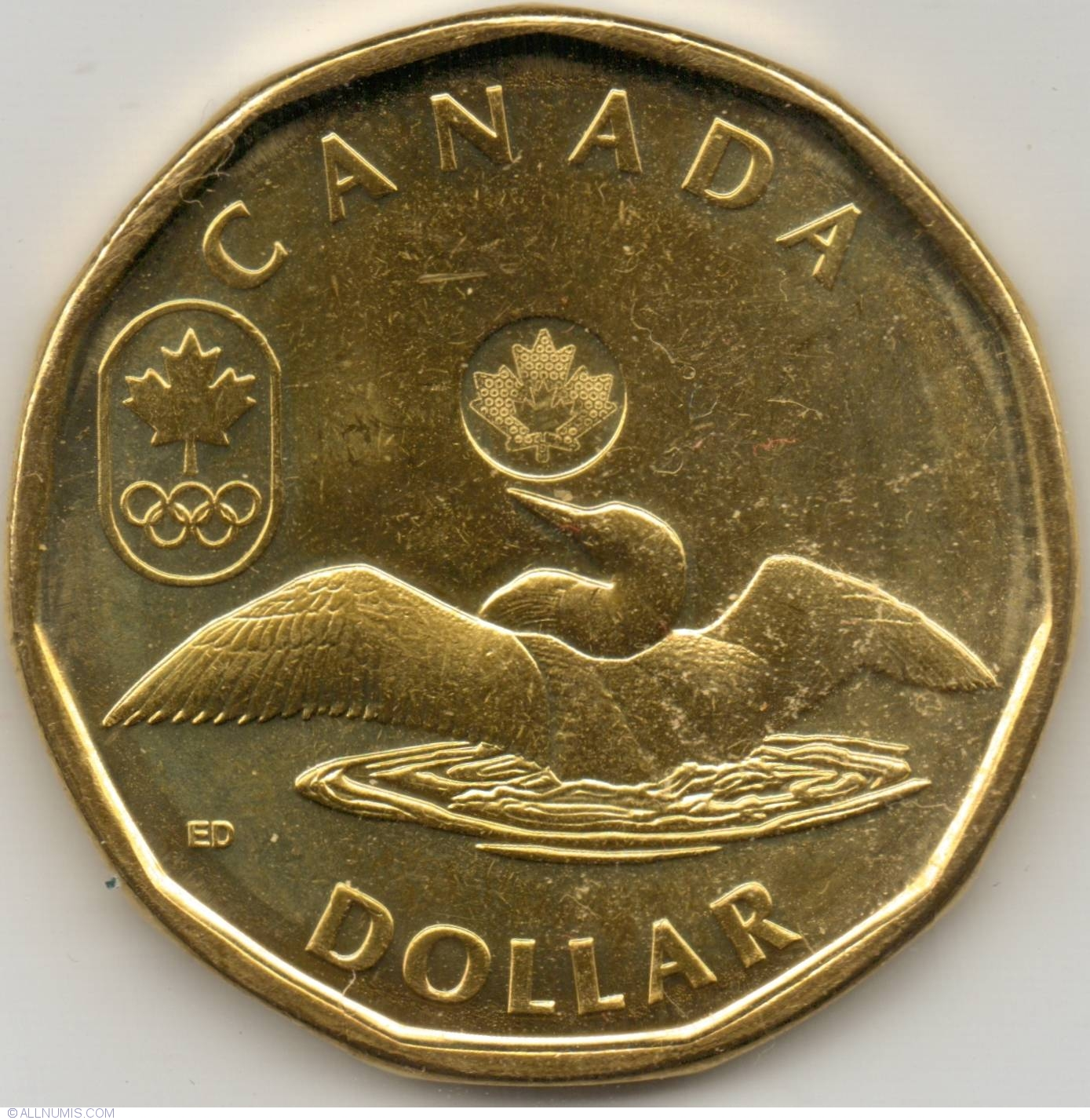 1 Dollar 2012 Olympic Lucky Loonie Commemorative