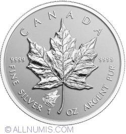 5 Dollars 2016 - Maple Leaf - Wolf