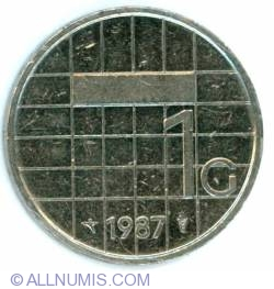 Image #2 of 1 Gulden 1987