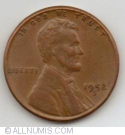 Lincoln Cent 1952 S