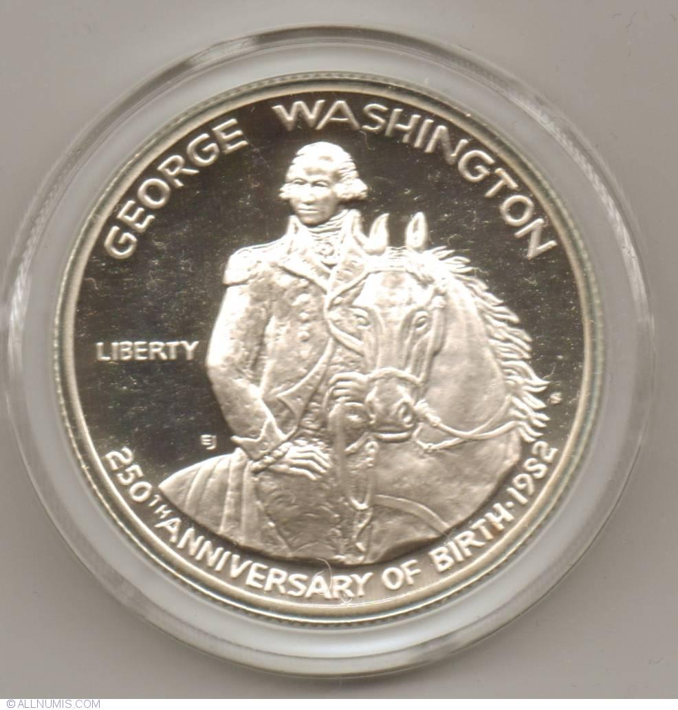 1982-S George Washington Half Dollar Silver Commemorative Proof With Box//COA