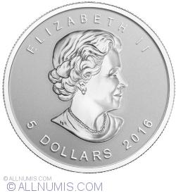 5 Dollars 2016 Maple Leaf - Panda