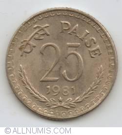 25 Paise 1981 (H)