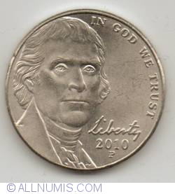 Jefferson Nickel 2010 P