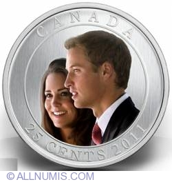 Image #2 of 25 Cents 2011 - Wedding of Prince William and Catherine Middleton