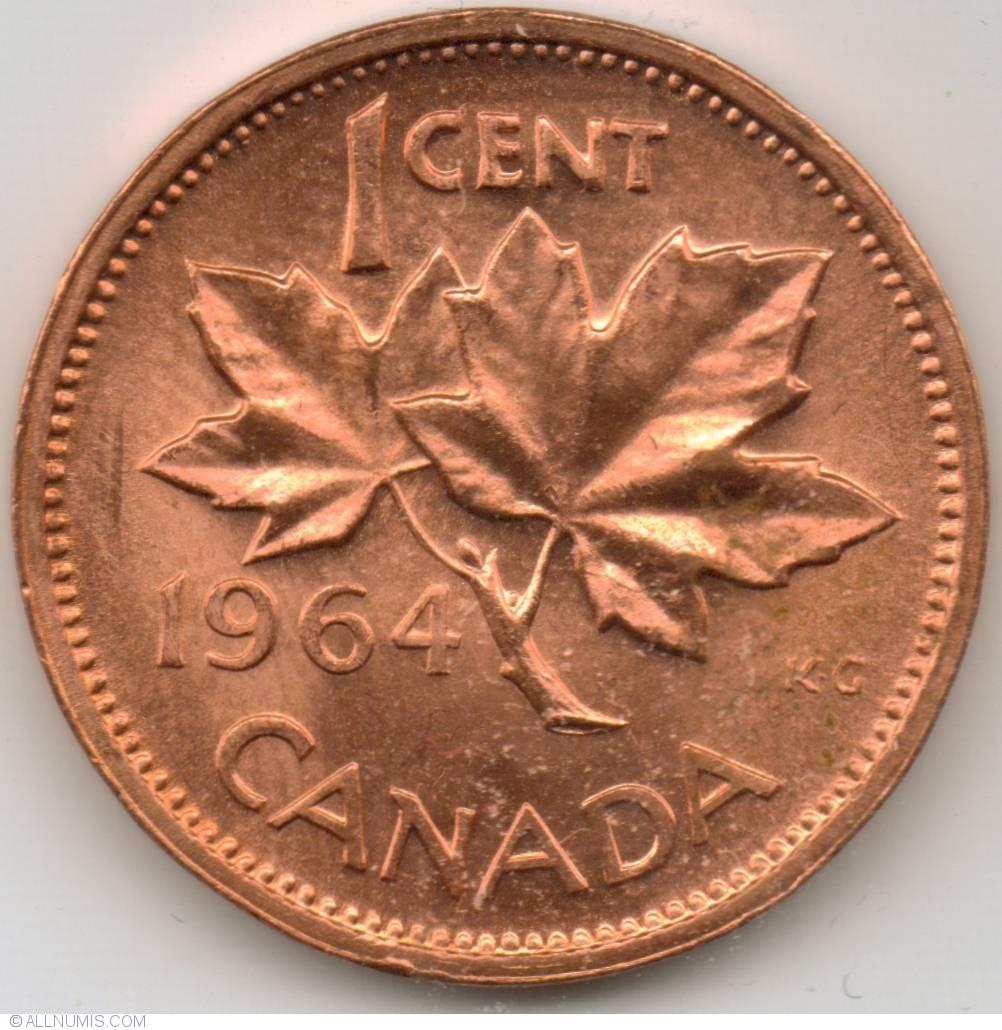 1 Cent 1964, Elizabeth II (1953-present) - Canada - Coin - 7803