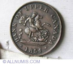 Image #1 of Half Penny 1854 - Bank Token