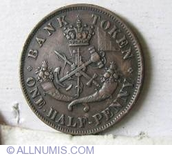 Image #2 of Half Penny 1854 - Bank Token