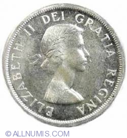 Image #1 of 1 Dollar 1958 - 100th anniversary since British Columbia became a British colony