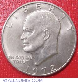 Eisenhower Dollar 1972  - Type III