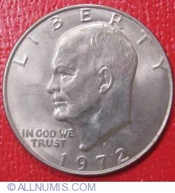 Imaginea #1 a Eisenhower Dollar 1972 D
