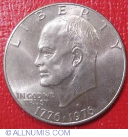 Eisenhower Dollar 1976 D - Type II Slant-Top