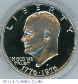 Imaginea #1 a Eisenhower Dollar 1976 S - Tipul I Squared  T