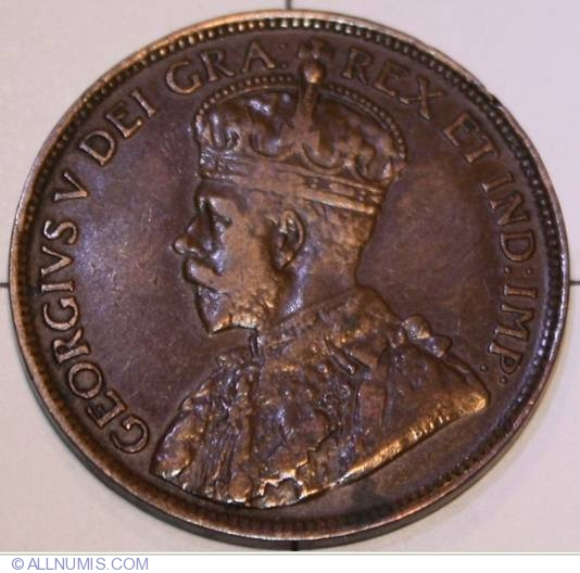 1911 Canada Large Penny Graded as Very Fine