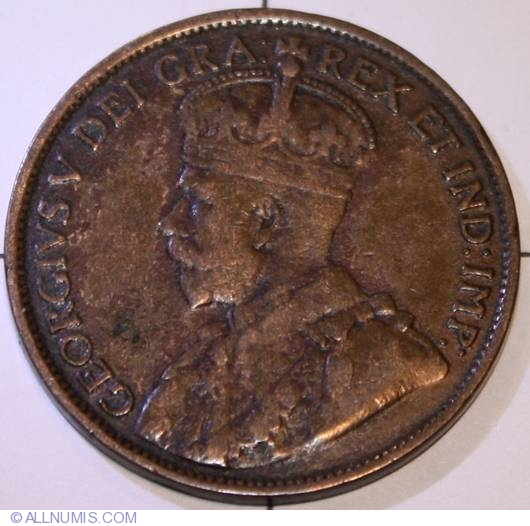 1 Cent 1914 George V 1911 1936 Canada Coin 9317
