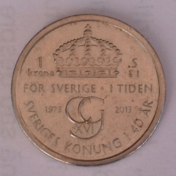 1 Krona 2013 - 40 years of Reign