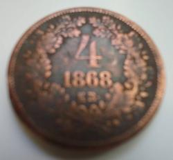 Image #2 of 4 Krajczar 1868 KB