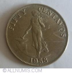 Image #1 of 50 Centavos 1958