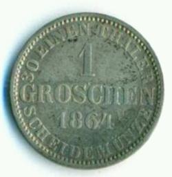 Image #2 of 1 Groschen 1864