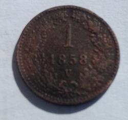 Image #1 of 1 Kreuzer 1858 V