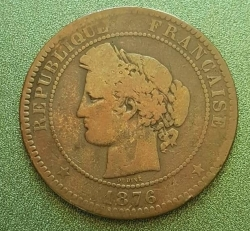 Image #2 of 10 Centimes 1876 K