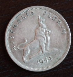 Image #1 of 1 Florin 1954 - Royal Visit