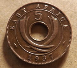 Image #1 of 5 Cents 1937 H