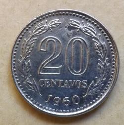Image #2 of 20 Centavos 1960