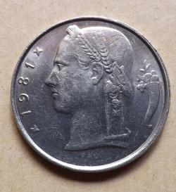 Image #2 of 5 Francs 1981 (Belgie)