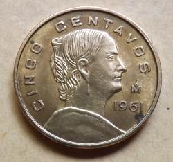 Imaginea #2 a 5 Centavos 1961