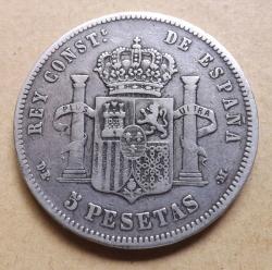 Image #1 of 5  Pesetas  1877  DE - M