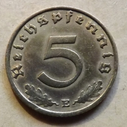 Image #2 of 5 Reichspfennig 1938 E