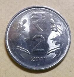 2 Rupees 2011 (H)