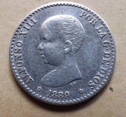 Imaginea #2 a 50 Centimos 1889 ( MP - M )