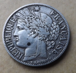 Image #1 of 1 Franc 1872 A (small A)