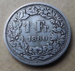 Image #2 of 1 Franc 1880