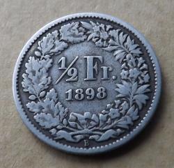 Image #2 of 1/2 Franc 1898