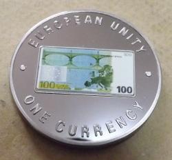 1000 Kwacha 1998 - European Unity 100 Euro - design revers