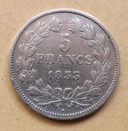5 Franci 1833 T