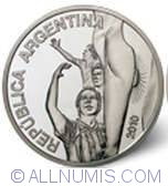 Image #1 of 5 Pesos 2010 - World Soccer Cup - South Africa
