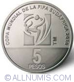 Image #2 of 5 Pesos 2010 - World Soccer Cup - South Africa