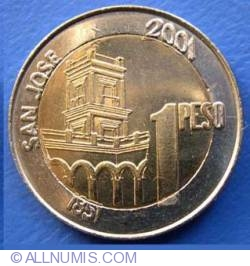 Image #2 of 1 Peso 2001 - Bicentenary of General Urquiza