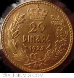 Imaginea #2 a 20 Dinari 1925