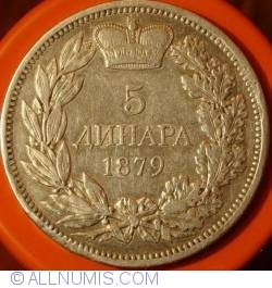 Imaginea #1 a 5 Dinara 1879