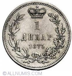 Imaginea #1 a 1 Dinar 1875