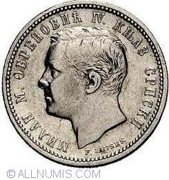 Imaginea #2 a 1 Dinar 1875