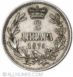 Imaginea #1 a 2 Dinara 1875