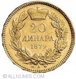 Imaginea #1 a 20 Dinara 1879