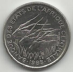 Image #2 of 50 Francs 1985 A - Chad
